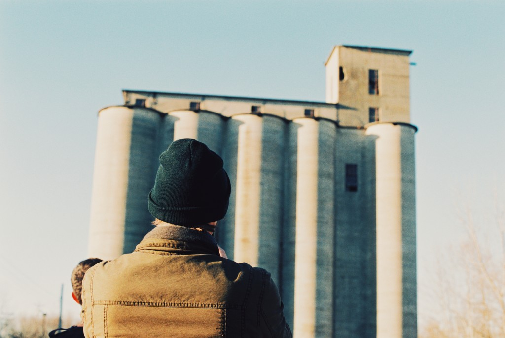 John standing in front of the Silo.